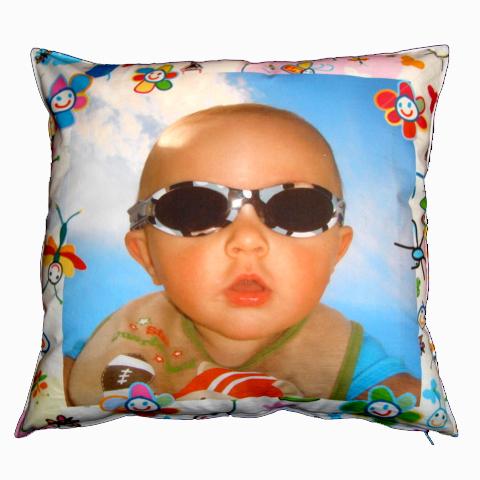 Almofada personalizada de bebê com Foto