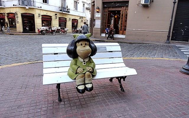 Estátua Mafalda em San Telmo | O que fazer