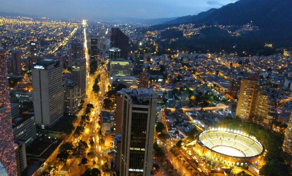 Pontos turísticos em Bogotá na Colômbia