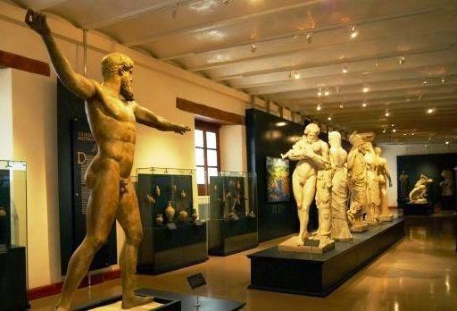 Interior do Museo de las Culturas na Cidade do México