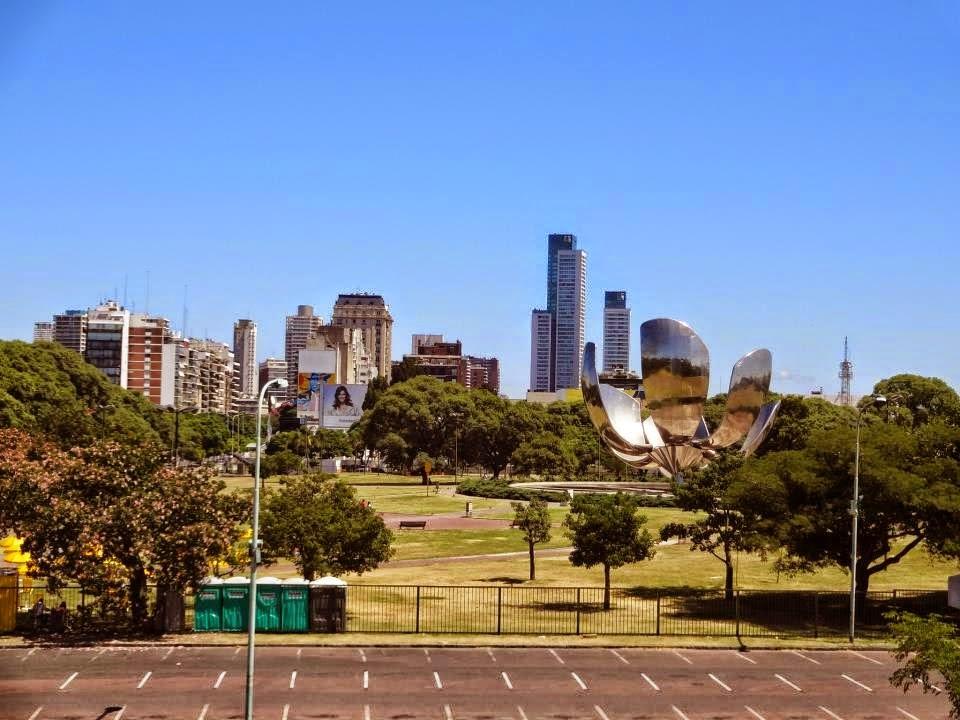 Localização da Floralis generica em Buenos Aires na Argentina