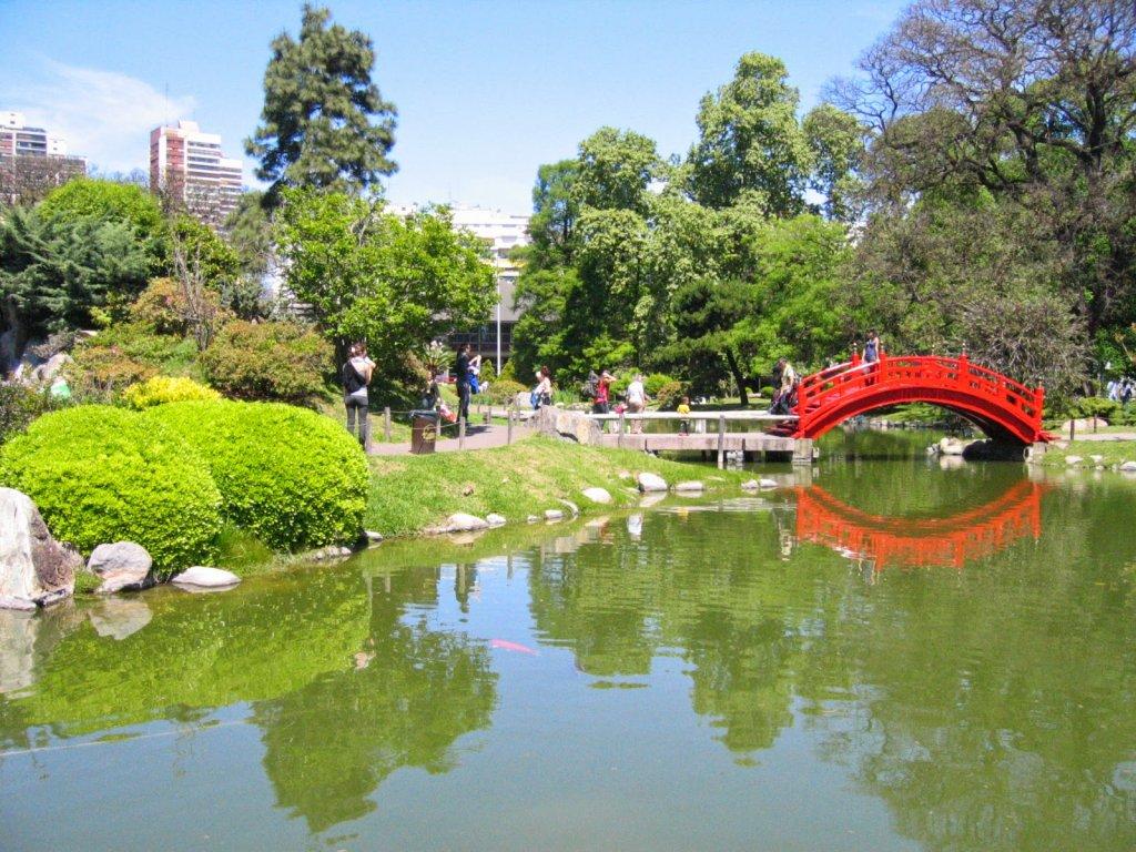 Interior do Jardim Japonês de Buenos Aires na Argentina