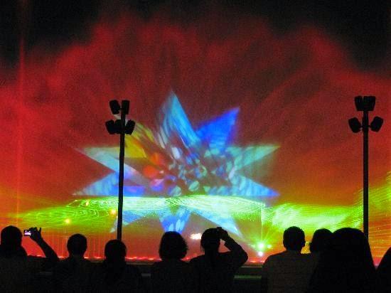 Show noturno no Parque da Reserva em Lima