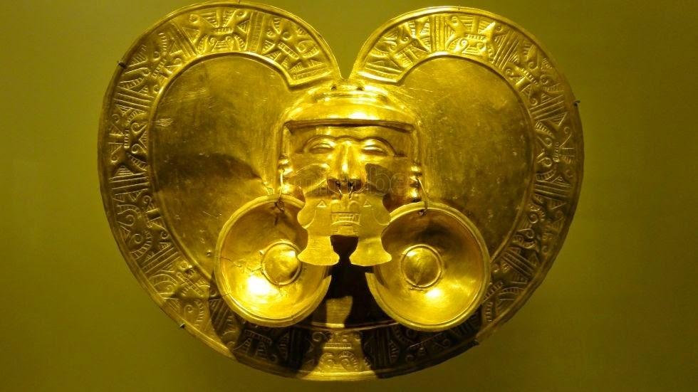 Parte da exposição do Museu do Ouro em Bogotá