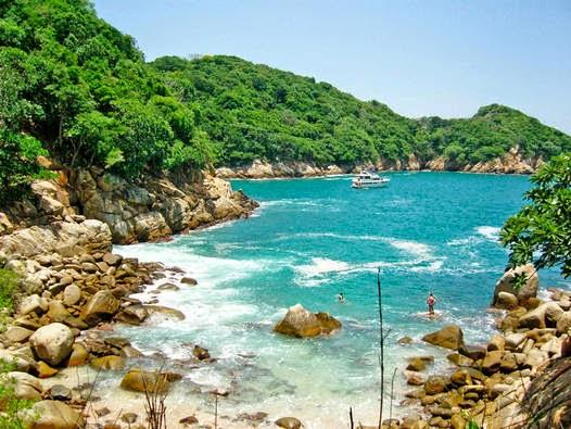 Beleza da Ilha da Roqueta Acapulco
