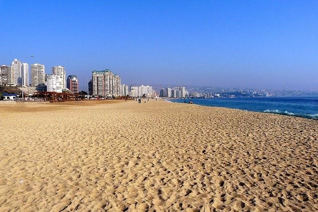 Praia em Vina del Mar