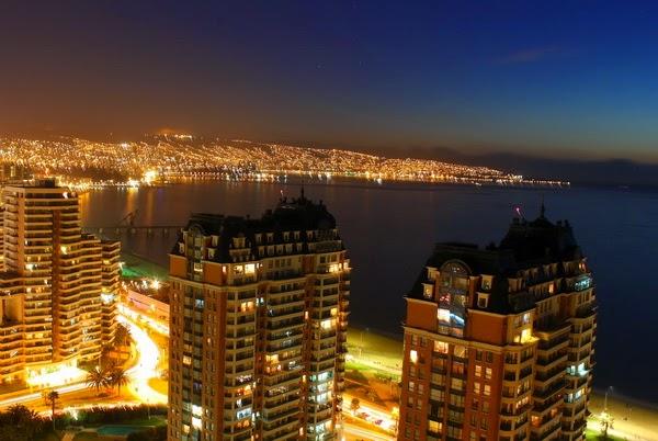 Pontos turísticos em Viña del Mar no Chile