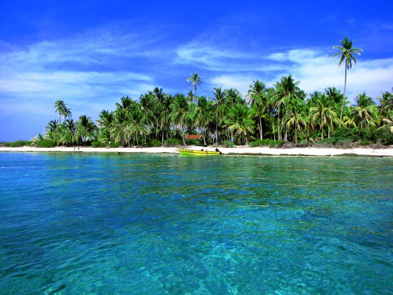 Ilha Johnny Cay em San Andrés