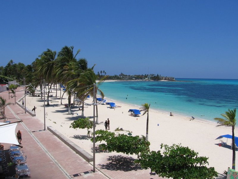 Praia na ilha de San Andrés