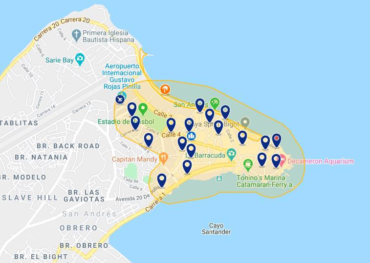 Onde ficar em San Andrés: melhores hotéis
