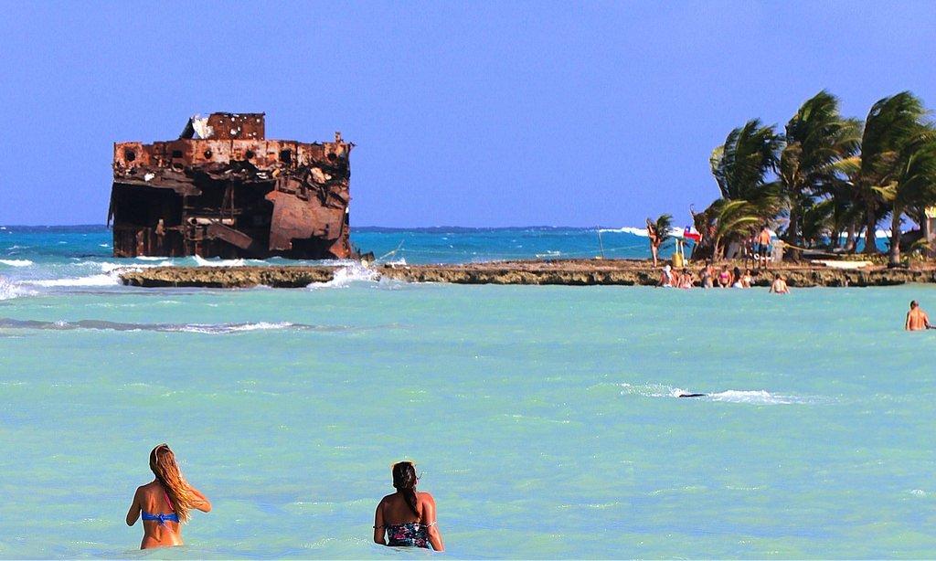 Praia Rocky Cay em San Andrés