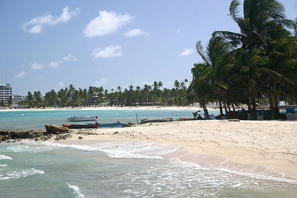Praia Spratt Bight em San Andrés