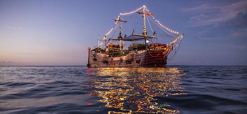 Barco em Cancún