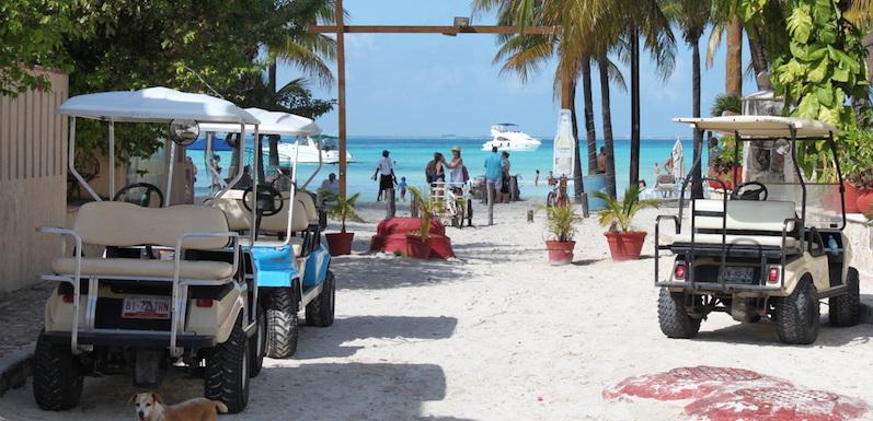 Como andar na Isla Mujeres em Cancún