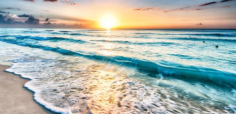 Praia em Cancún
