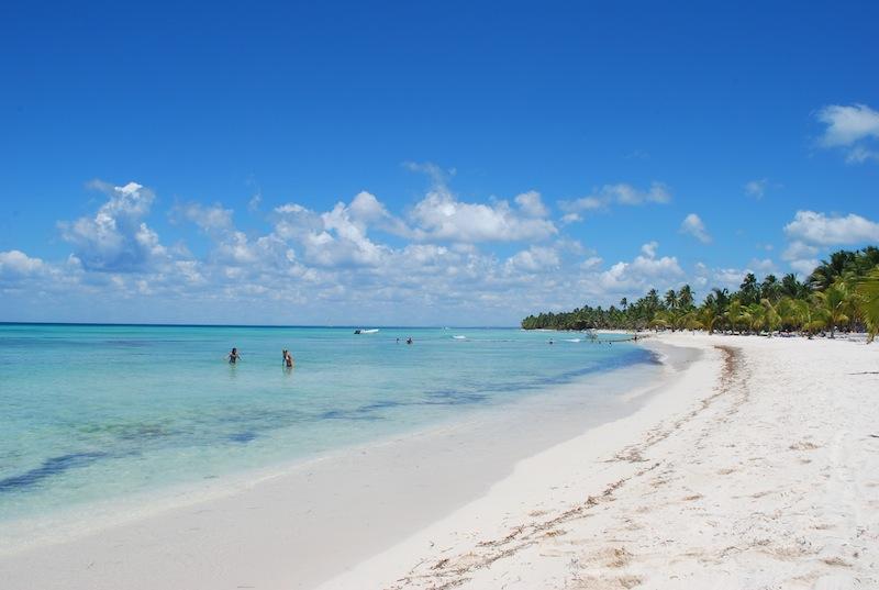 Praia na Ilha Saona em Punta Cana