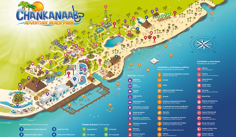 Parque natural Chankanaab Beach Adventure Park em Cancún