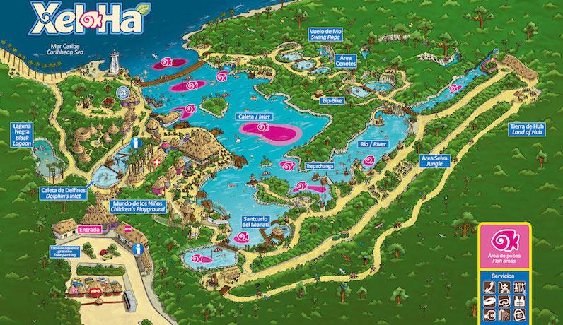 As Atrações do Parque natural Xel-Há em Cancún