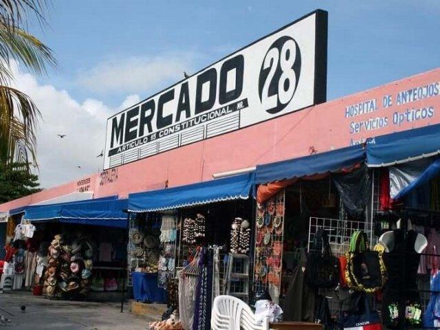 Mercado 28 em Cancún no México
