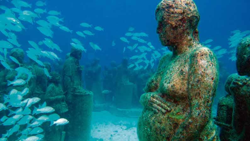 Museu Subaquático de Arte na Isla Mujeres em Cancún