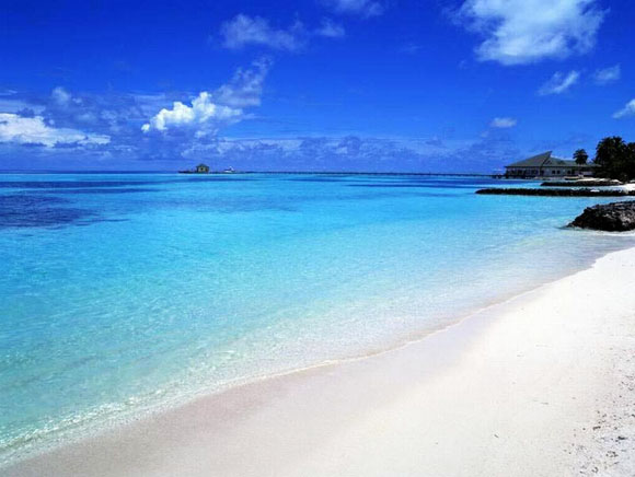 Praias de San Andrés no verão