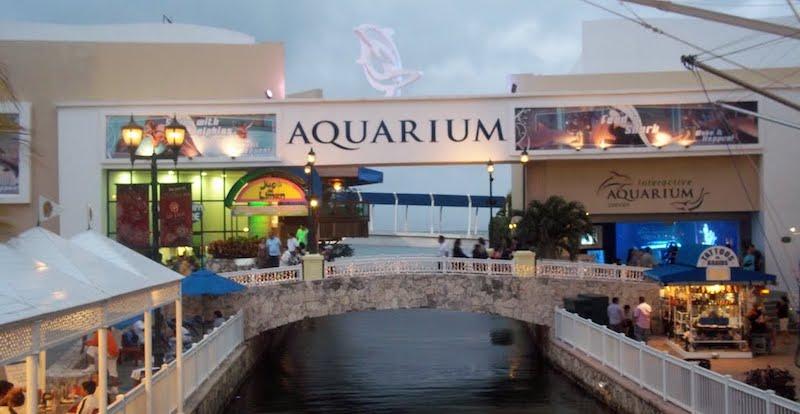 Fachada do Interactive Aquarium em Cancún